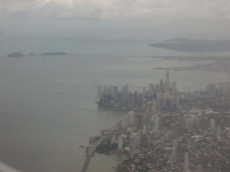 My first glimpse of Panama City